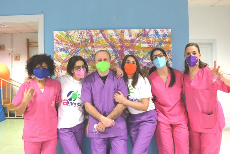 Equipo de profesionales del Centro de Día AMENCER ASPACE de Campolongo