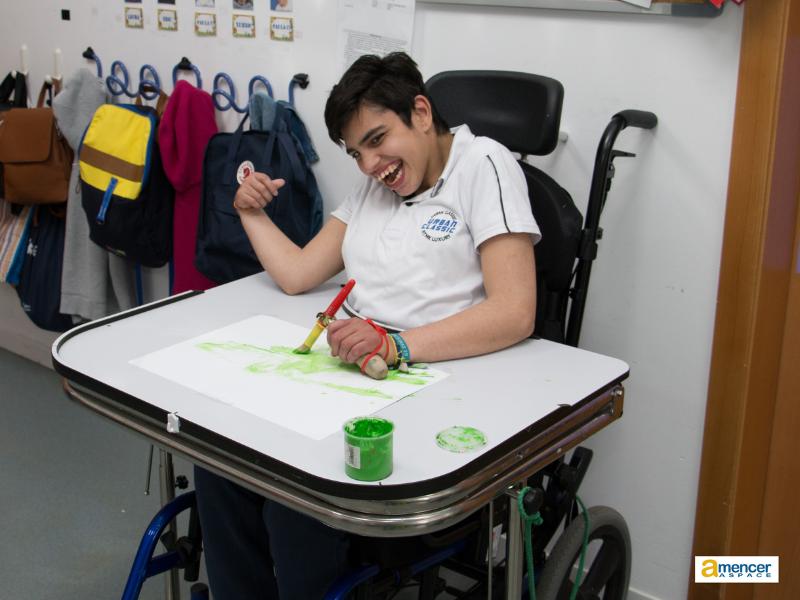 Servicio de promoción de la autonomía personal para personas con parálisis cerebral de la Asociación AMENCER ASPACE