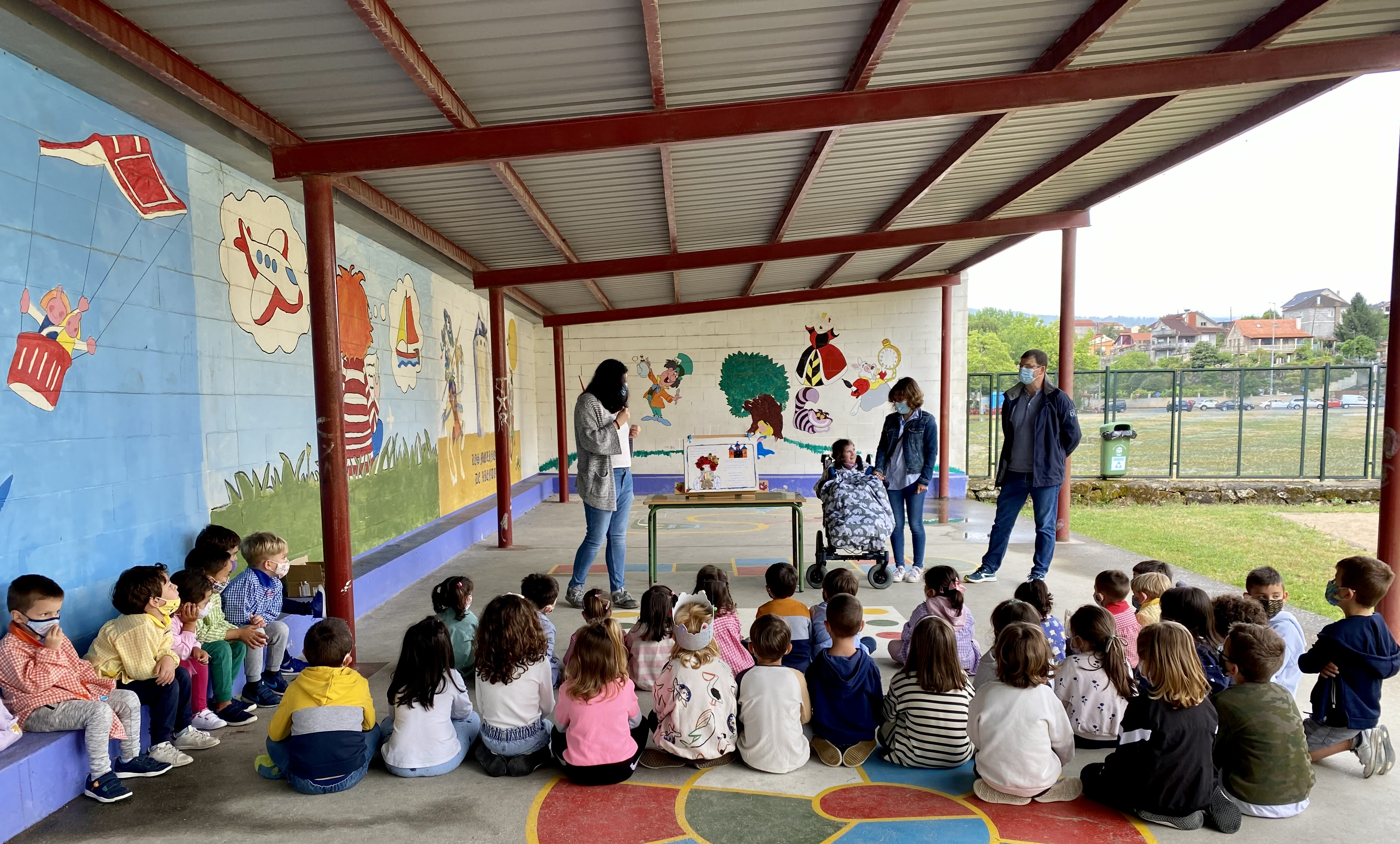 """Presentación del cuento """"A Princesa Metesustos"""" en el CEIP Ponte Sampaio"""